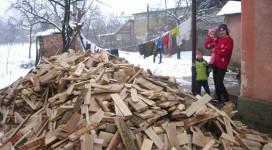 Gezin brandhout